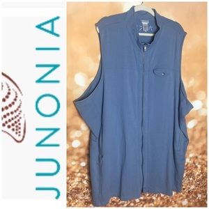 Plus Size 6xl Junonia Zipped Vest Blue